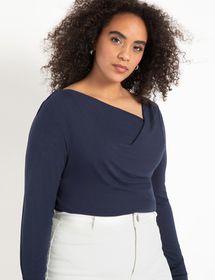 Cowl Neck Long Sleeve Top