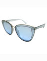 Oversized Cat Eye Sunglasses Blue