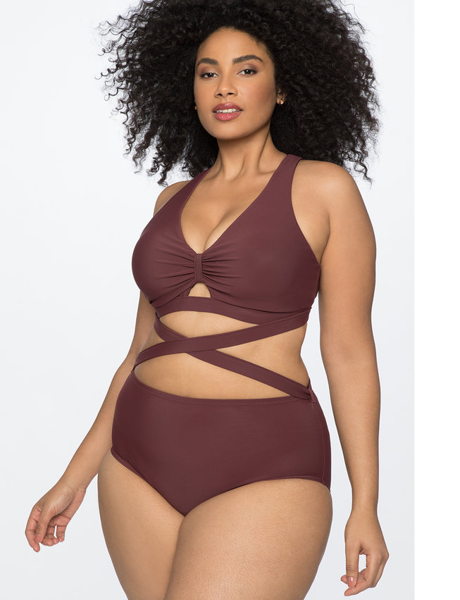 Wrap Waist One Piece Swimsuit