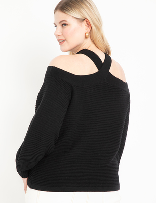 Cold Shoulder Cross Front Sweater