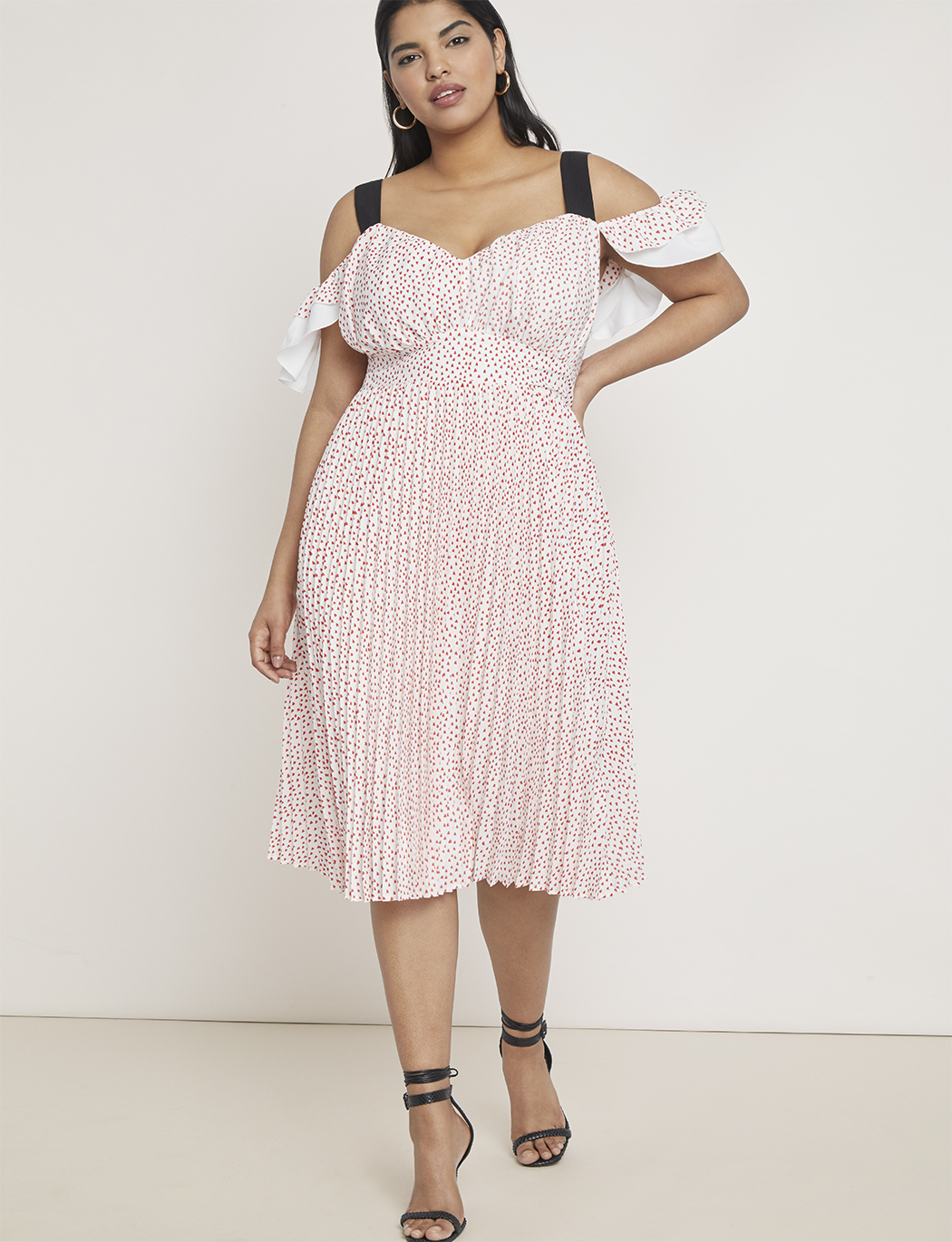 Contrast Strap Cold Shoulder Dress | Women\'s Plus Size Dresses | ELOQUII