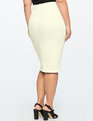 Neoprene Pencil Skirt Off White