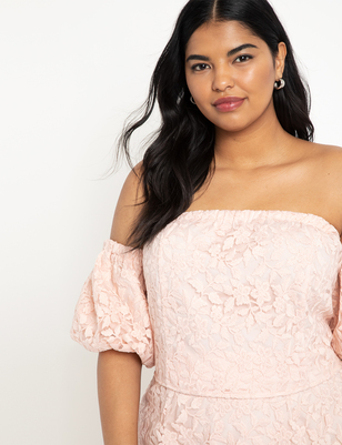 Puff Sleeve Off the Shoulder Top
