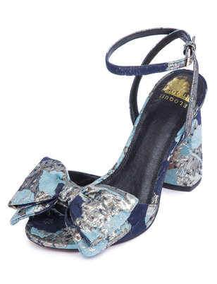 Minnie Brocade Bow Heel