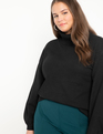 Puff Sleeve Sweater Black