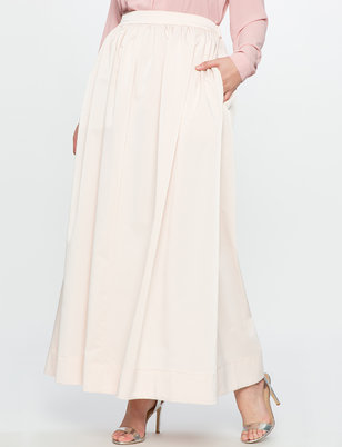 Satin Ball Gown Maxi Skirt