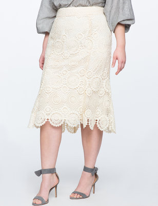 Studio Lace Trumpet Skirt
