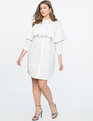 Shirtdress with Ruffle Overlay Soft White