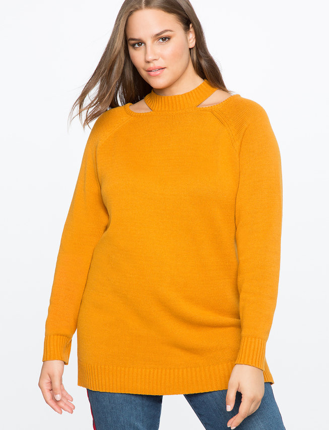 Cutout Tunic Sweater