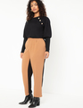 Colorblocked Trouser Totally Black + Salted Carmel
