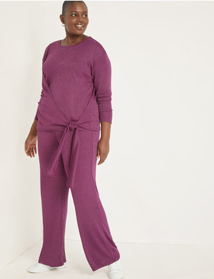 Sparkle Pull-on Wide Leg Pant