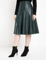 Faux Leather Trumpet Skirt Black Forest