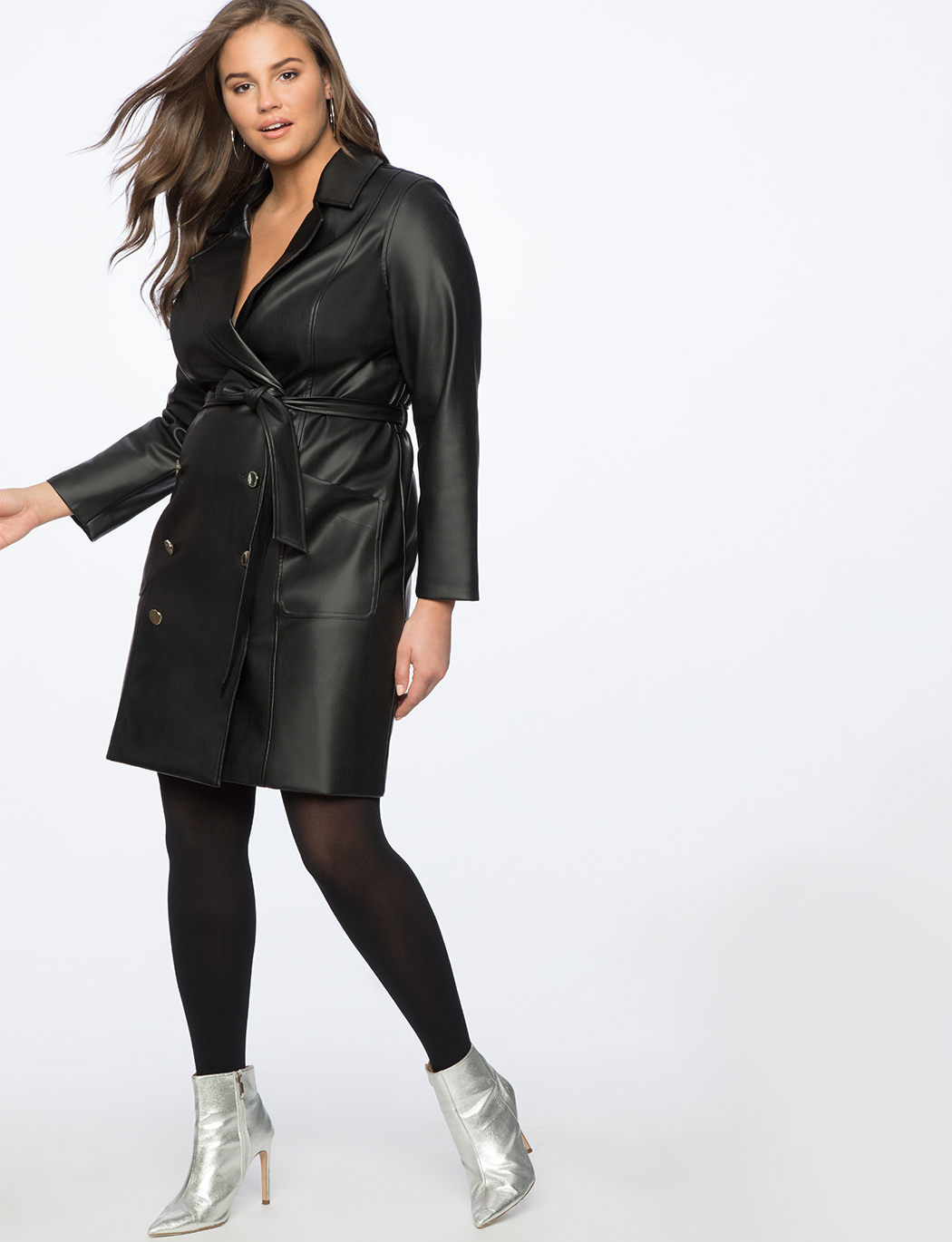 Faux Leather Trench Dress | Women\'s Plus Size Dresses | ELOQUII