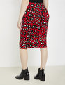 Intarsia Sweater Pencil Skirt Speckled Leopard
