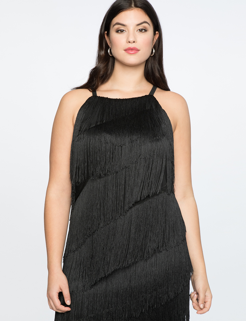 Fringe Easy Dress | Women\'s Plus Size Dresses | ELOQUII