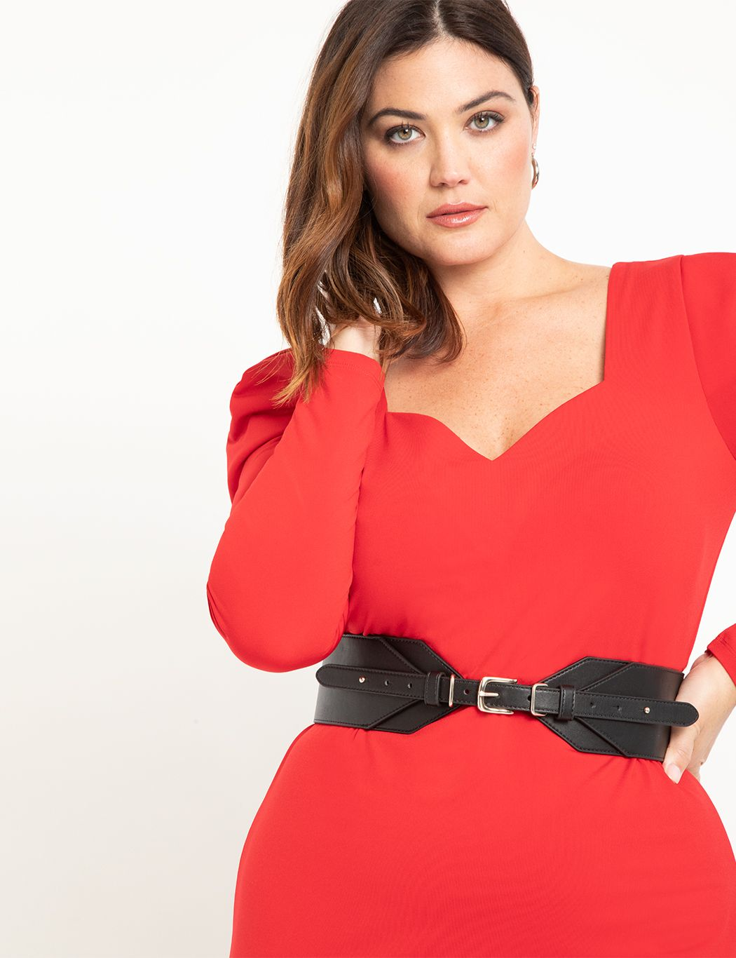 Cinched Front Wide Waist Belt
