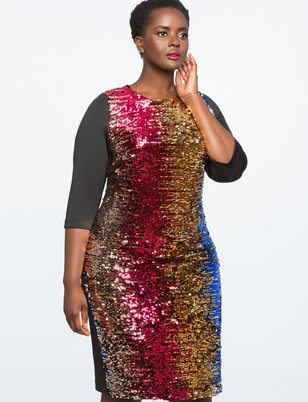 Studio Variegated Sequin Dress