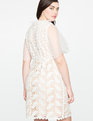 Mixed Lace Dress WHITE