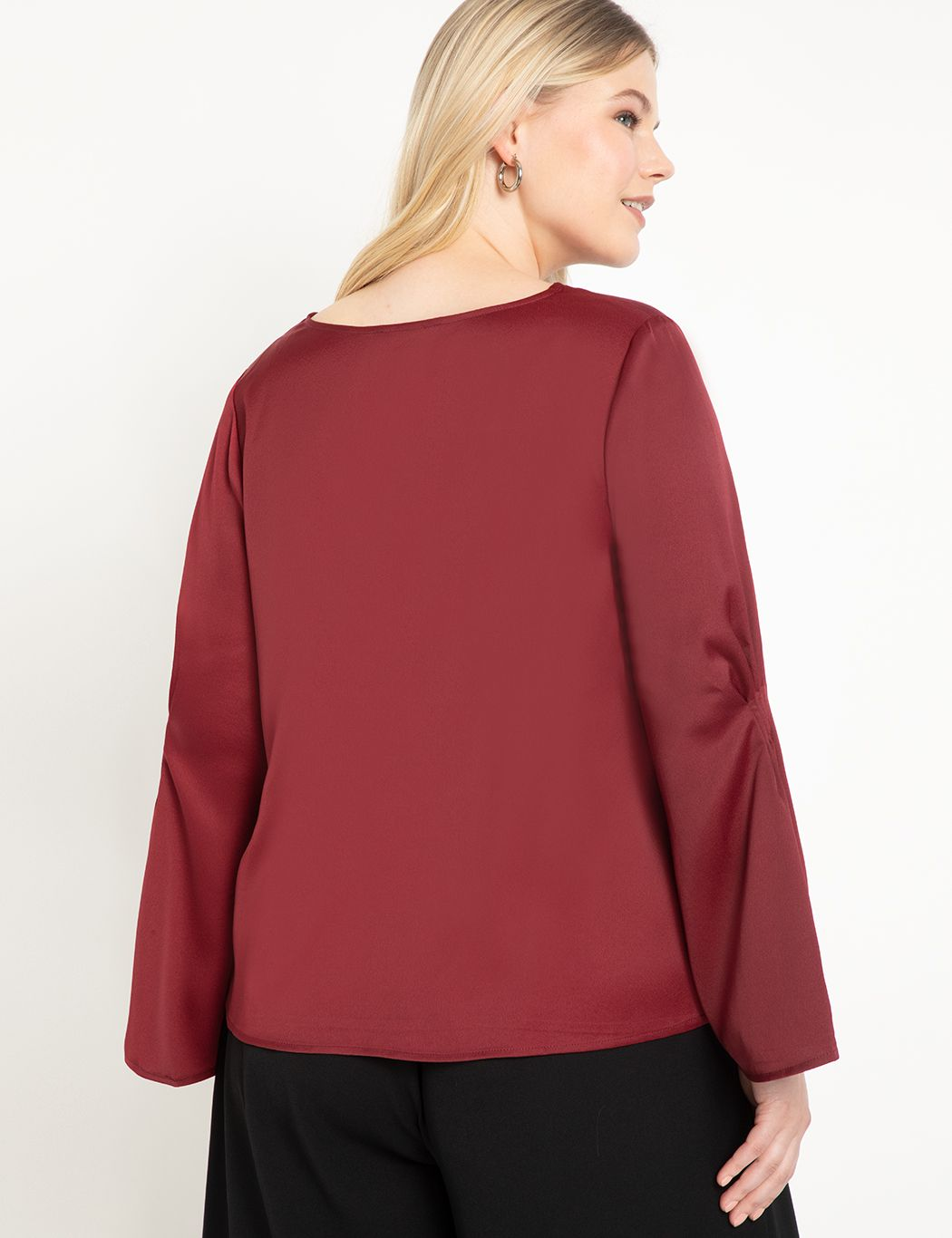 Pintuck Sleeve Blouse