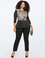 Lace Embellished Peplum top SEQUIN APPLIQUE