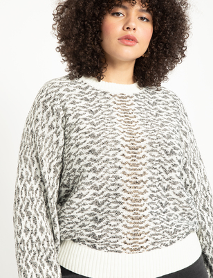 Jacquard Sweater with Lurex