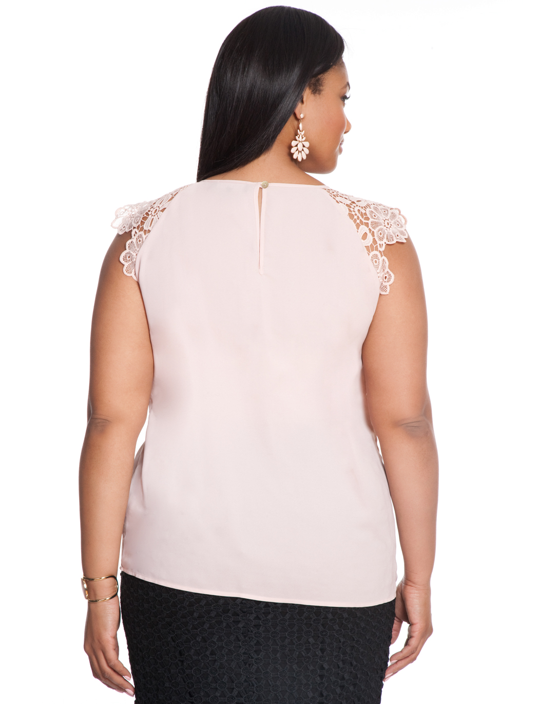 Lace Shoulder Shell