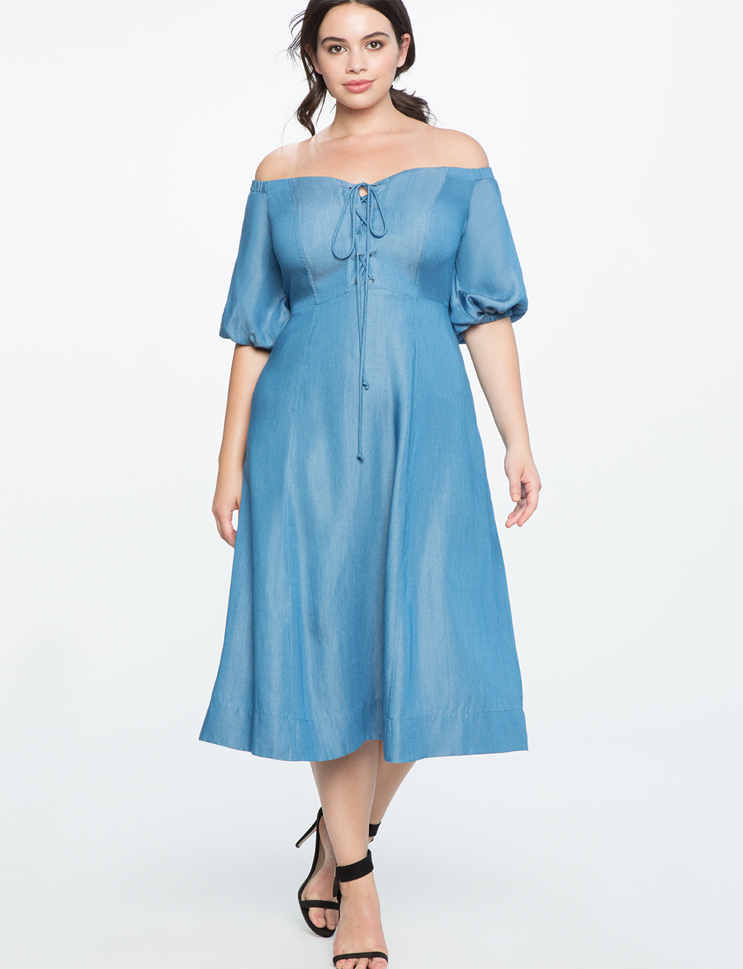0ee4a4f4e759 Lace Up Bodice Off the Shoulder Dress