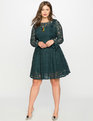 Studio Lace Fit and Flare Dress Twilight