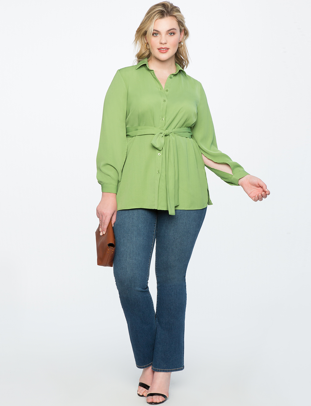 Split Sleeve Tunic with Tie Waist