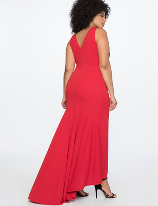 Deep V Gown
