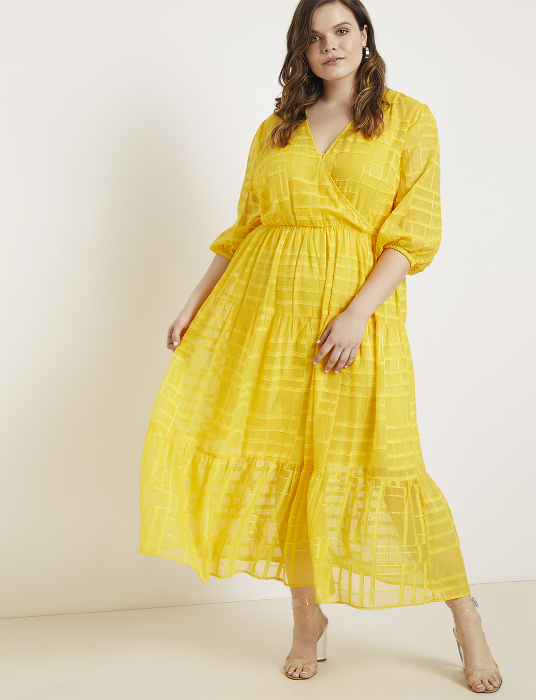 Maxi Dress with Puff Sleeves | Women\'s Plus Size Dresses | ELOQUII