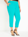 Cropped Pant with Cuff Tropical Green