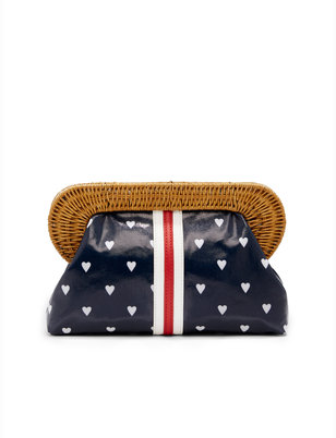 Draper James Love Row Wicker Clutch