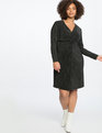 Knot Front Accordion Dress Totally Black