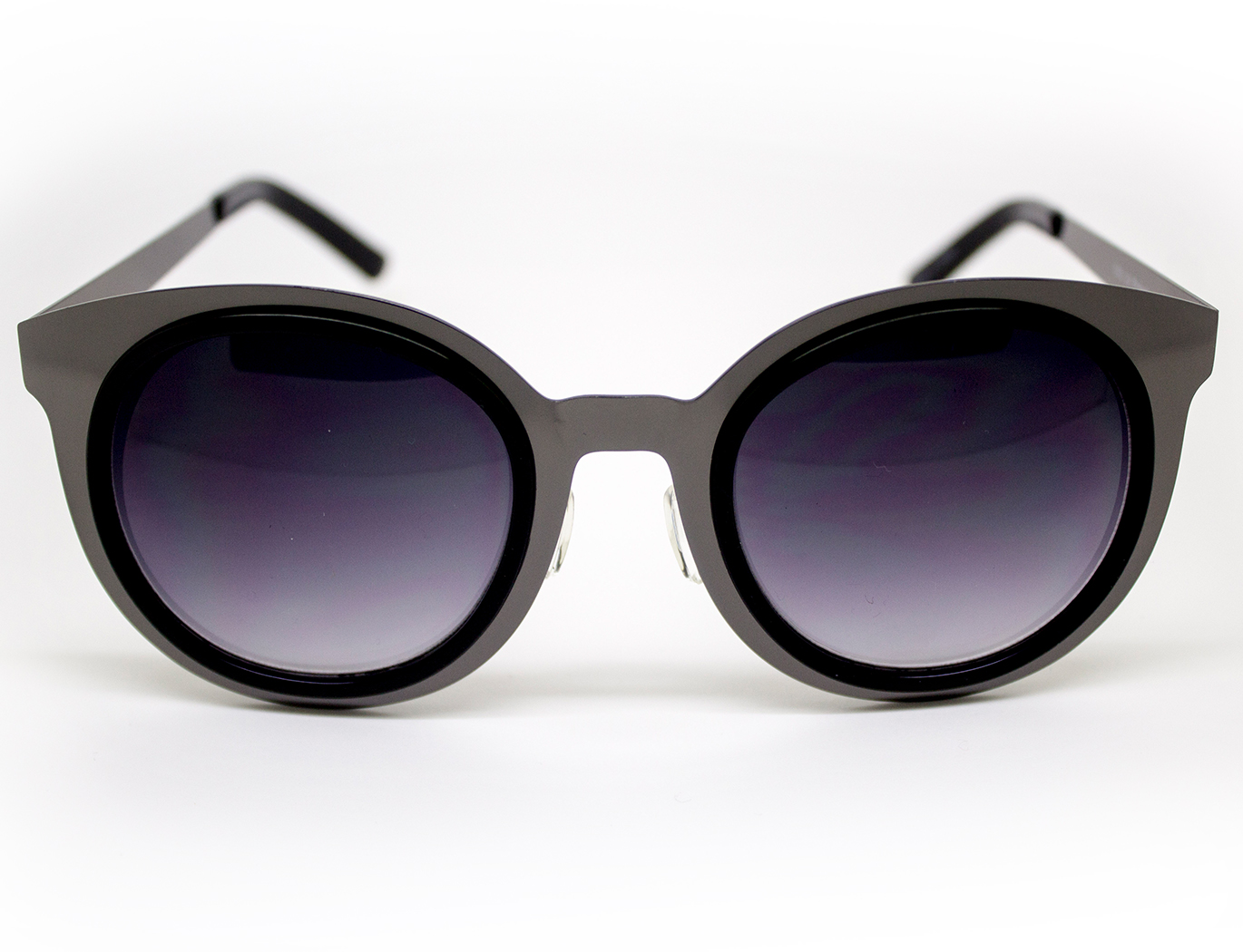 Round Metal Detail Sunglasses