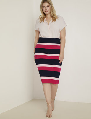 Colorblock Column Skirt