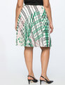 Printed Midi Skirt with Pleats THE TREE MUSKETEERS