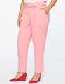 High Waisted Trouser With Belt Apple Blossom