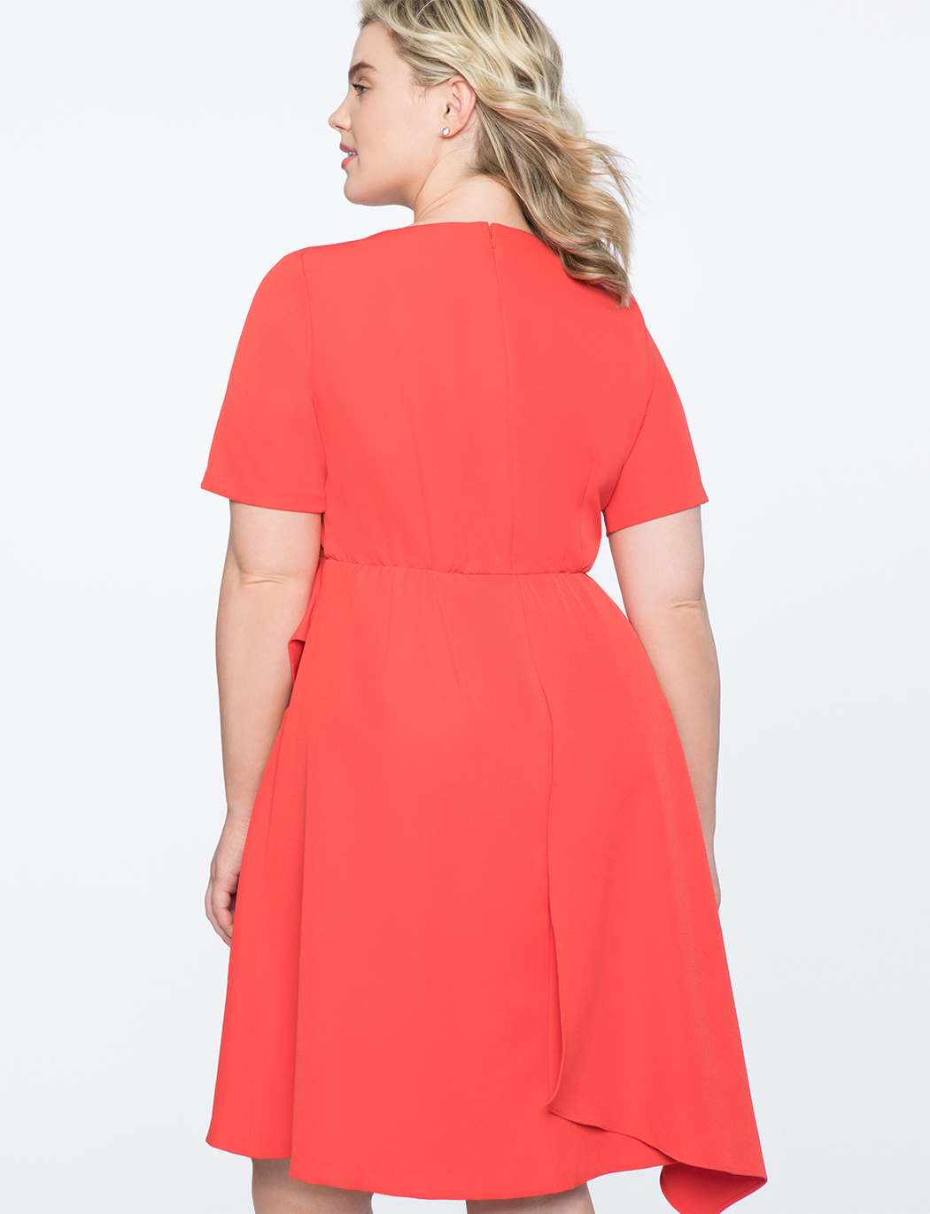 Short Sleeve Dress with Skirt Overlay