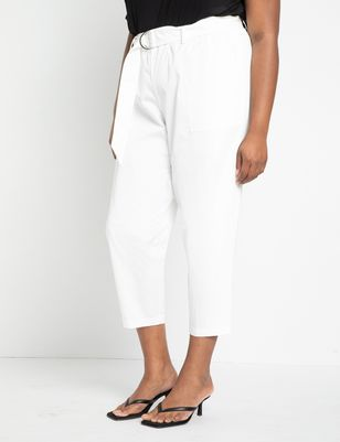 Tapered Pant With D-Ring Belt