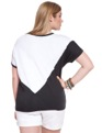 Spliced Triangle Top White & Black