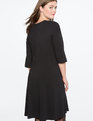 Asymmetrical Pleated Dress  TOTALLY BLACK