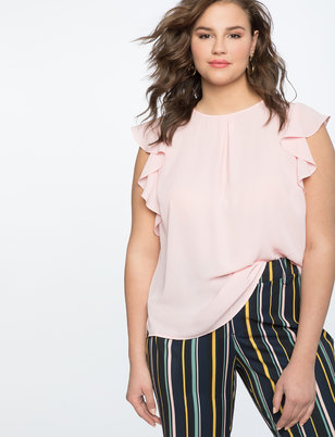 Flutter Sleeve Work Top