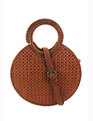 Circle Woven Detail Bag Cognac