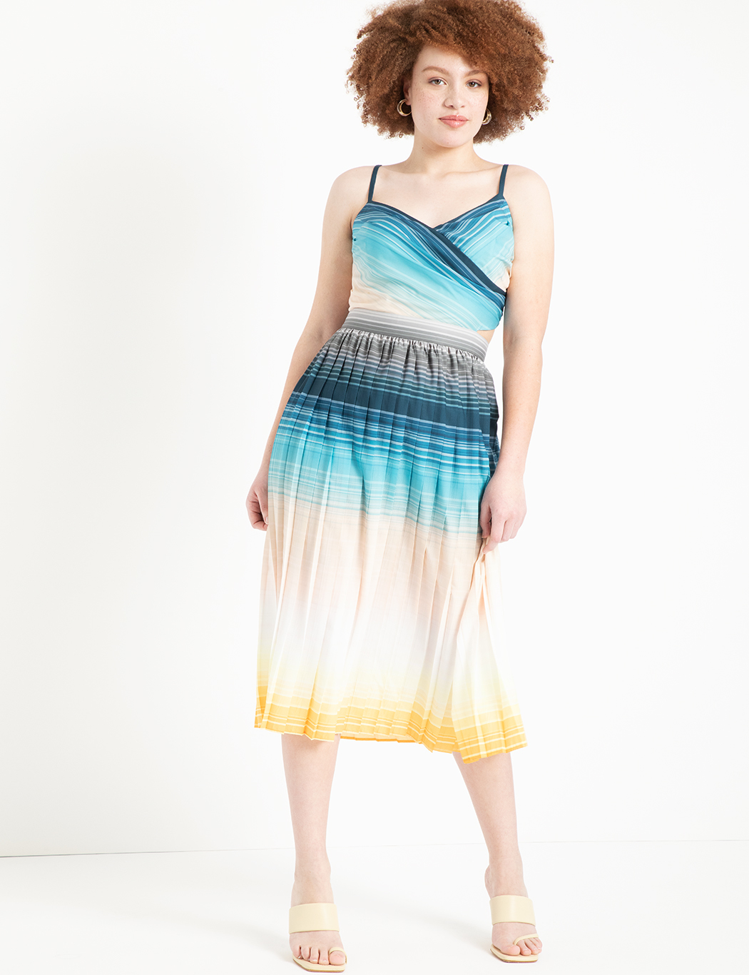 Printed Wrap Front Dress 2