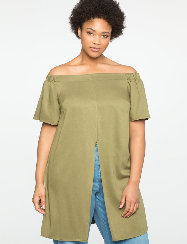 Studio Off the Shoulder Tunic with Vent