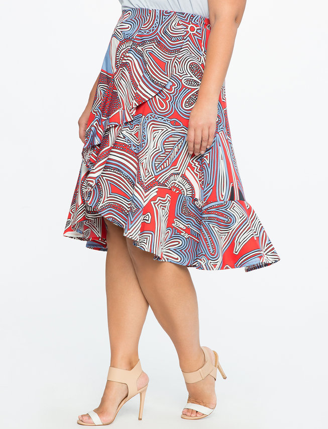 Studio Double Ruffle Skirt