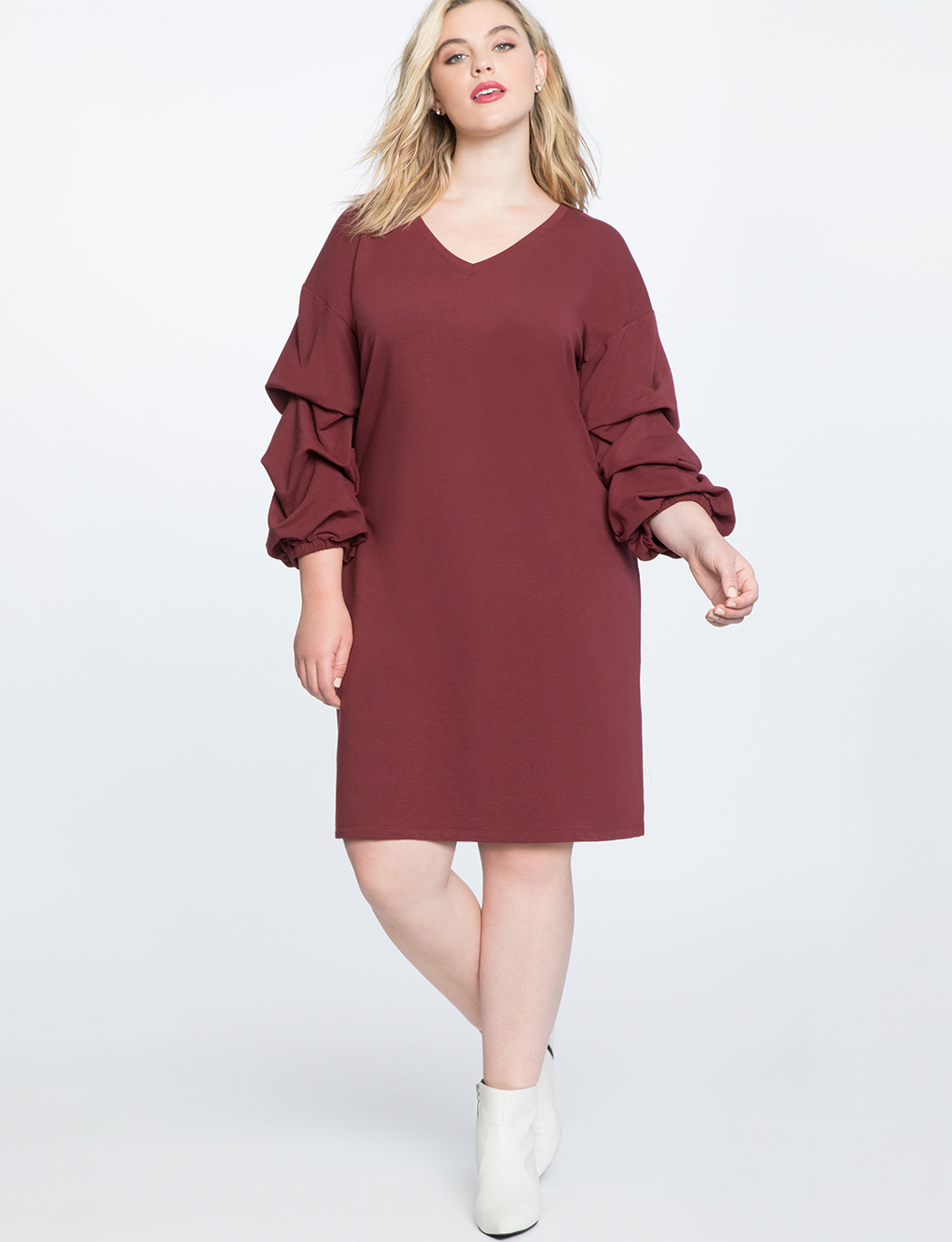 Puff Sleeve Easy Tee Dress