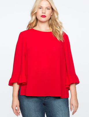 Relaxed Flare Sleeve Top