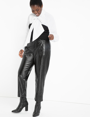 Faux Crocodile Leather Trouser